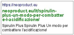 https://neoproduct.eu/it/spirulin-plus-un-modo-per-combattere-l-acidificazione/